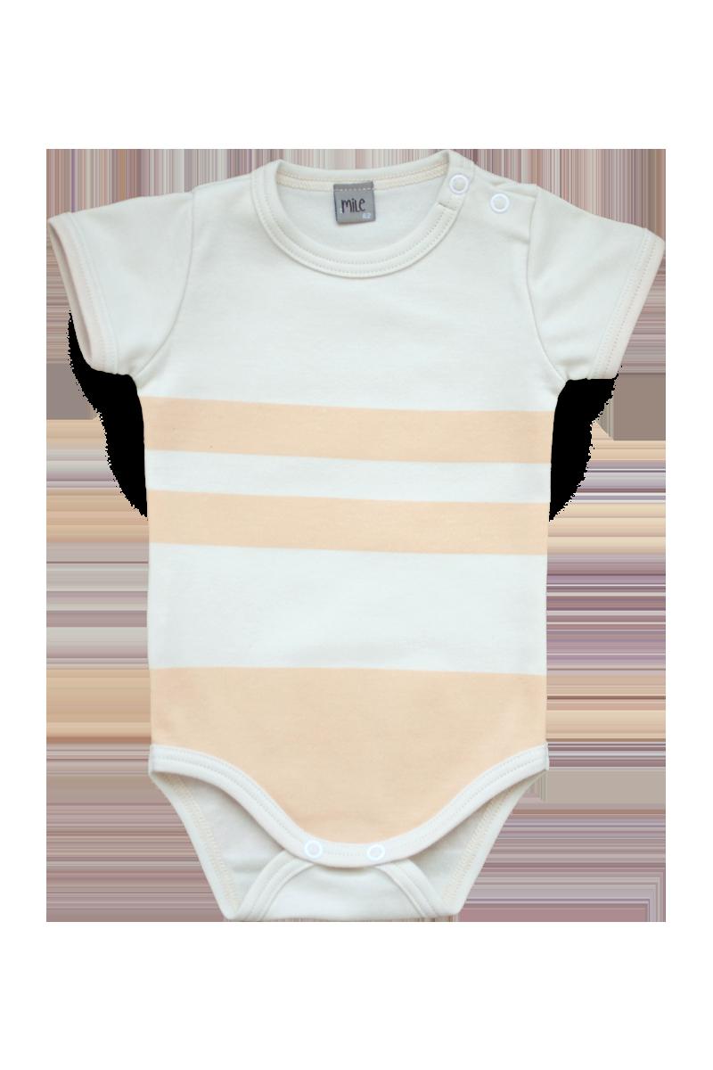 wide strips body short sleeve
