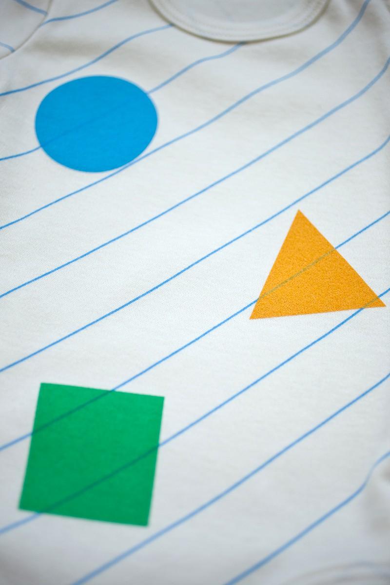 farebné trio body krátky rukáv