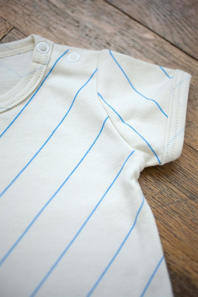 diagonal line body short sleeve