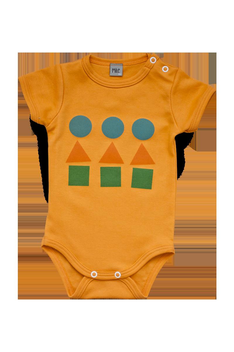 playful orange body short sleeve