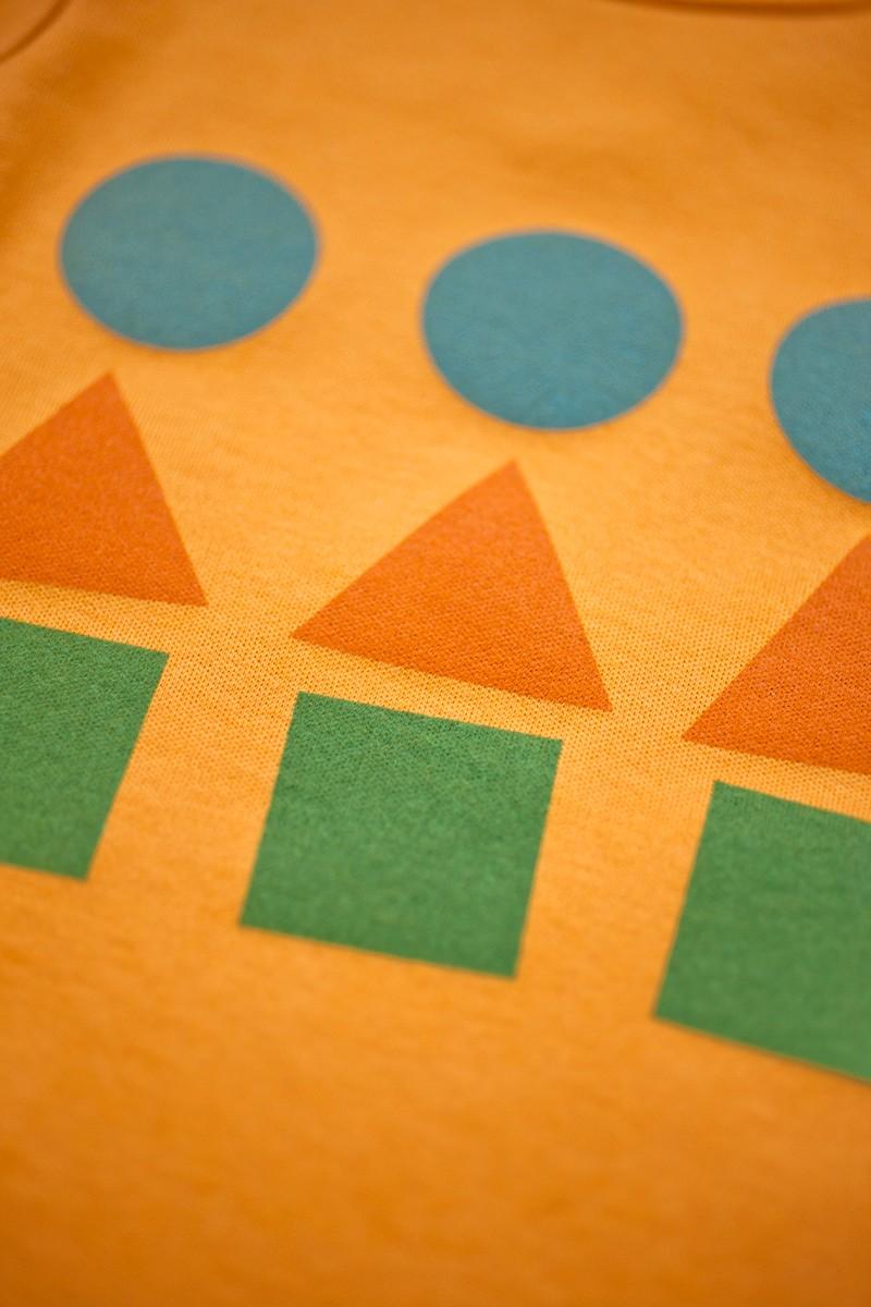 hravá oranžová body krátky rukáv