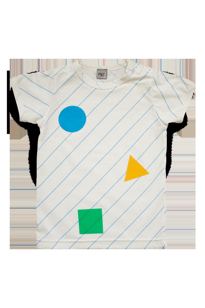 farebné trio tričko krátky rukáv