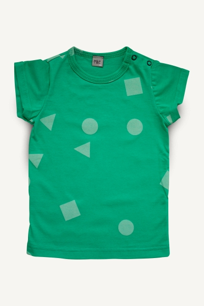 green geometry summer tops