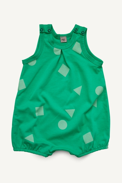 green geometry overalls