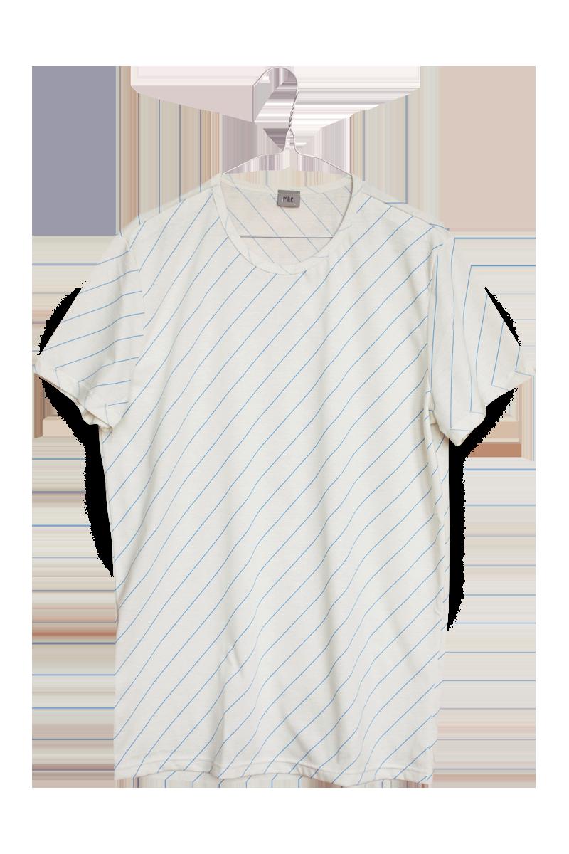 šikmý pásik pánske tričko