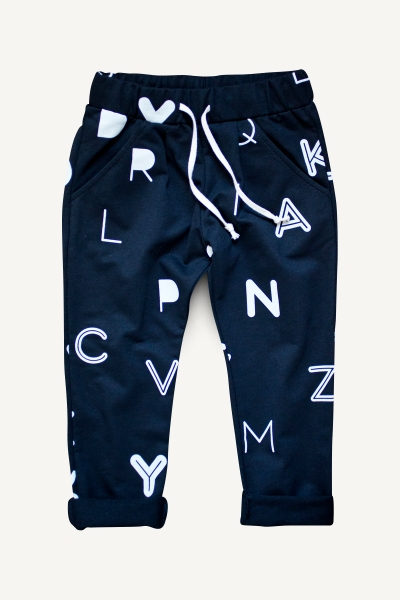 letters trousers and tracksuit