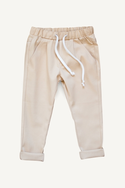 apricot trousers and tracksuit