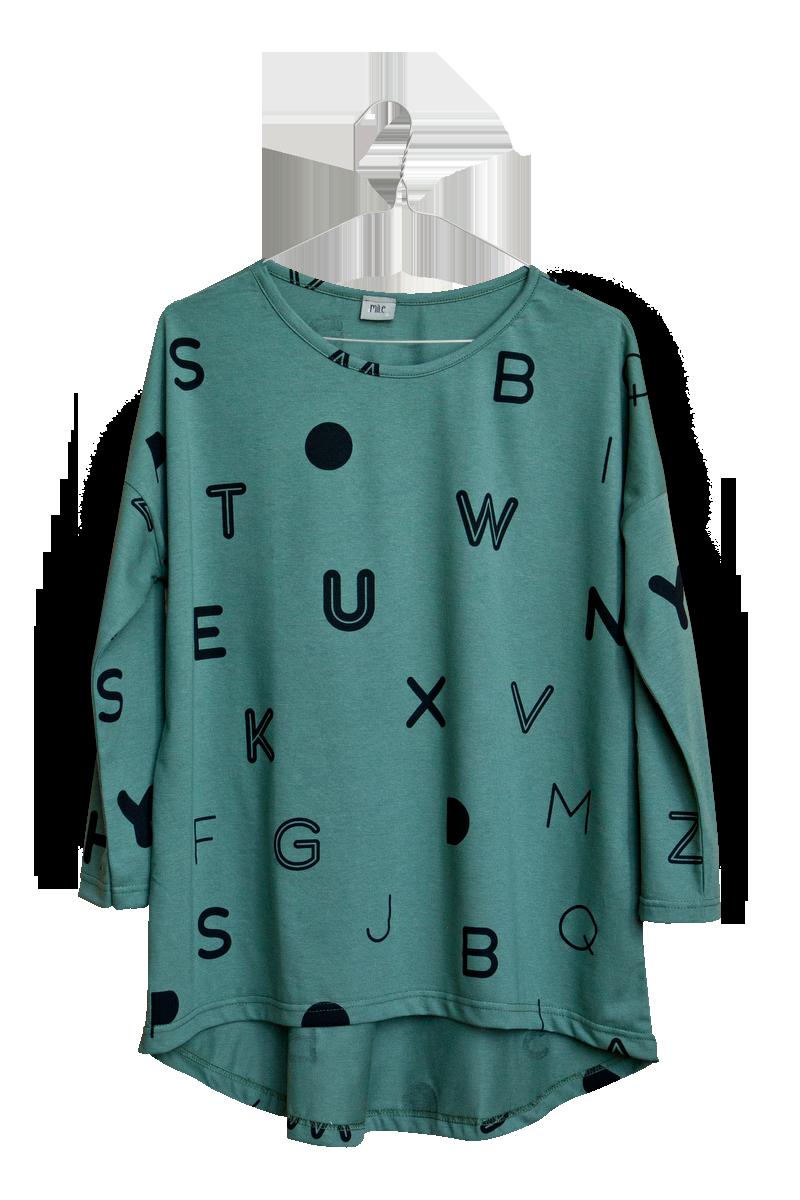 písmenká dámske tričko