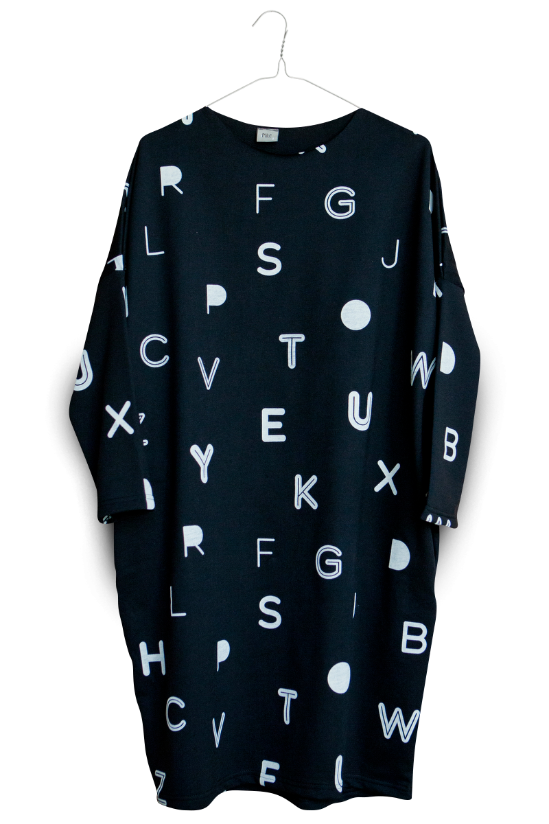 písmenká dámske šaty