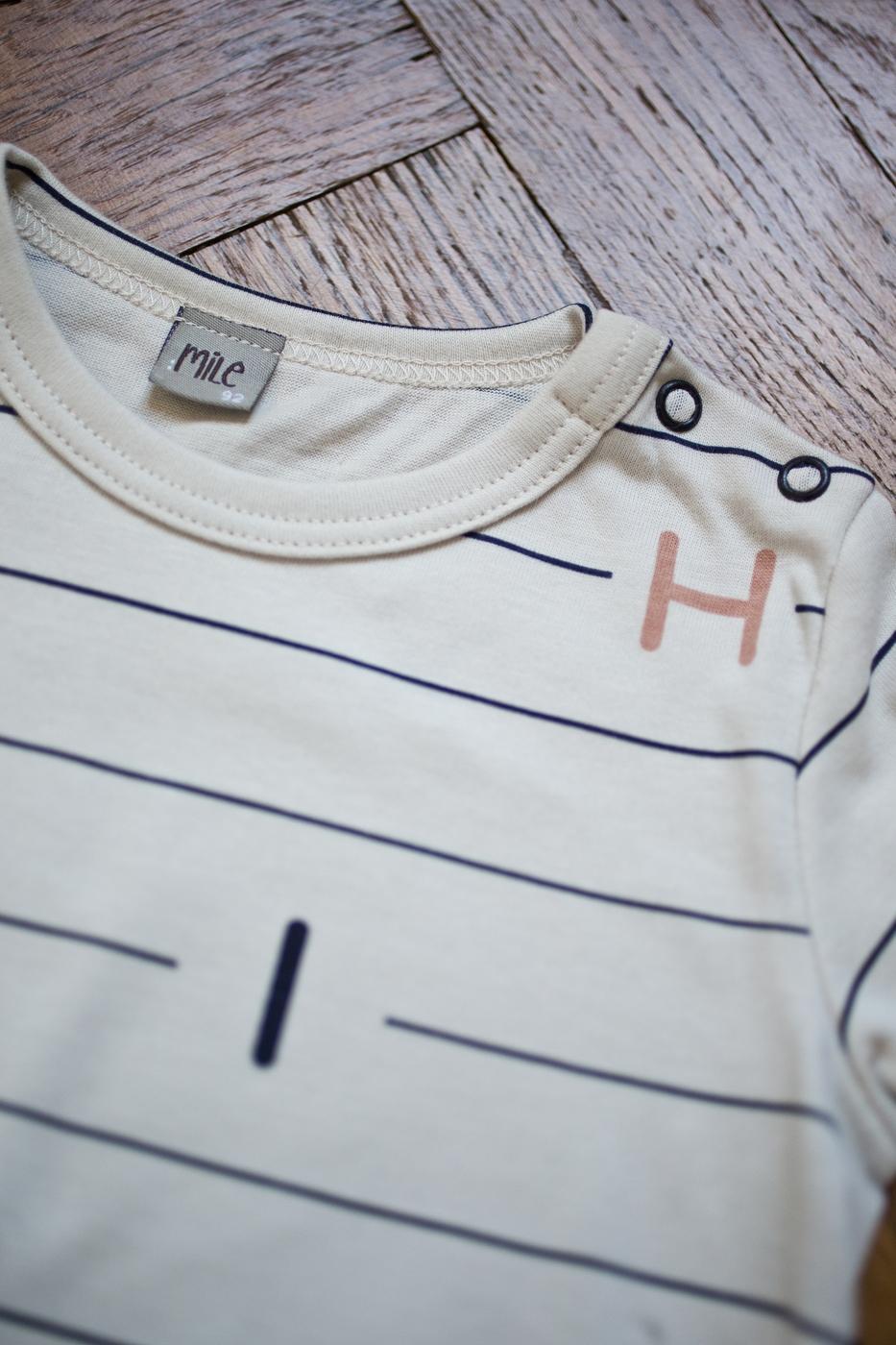 riadky tričko dlhý rukáv