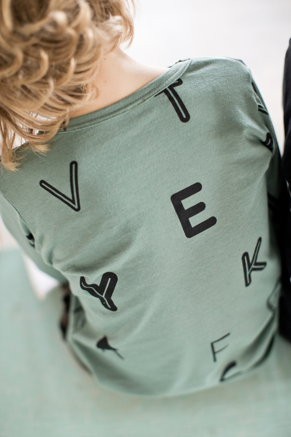 písmenká tričko dlhý rukáv