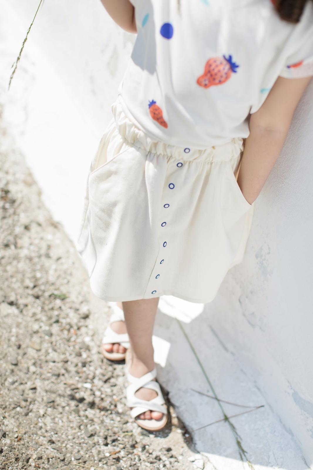 sukňa smotanová