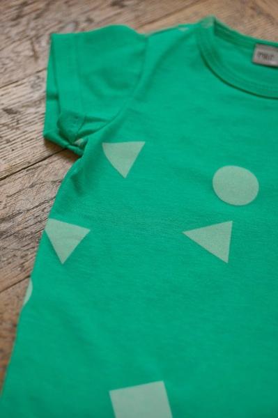 green geometry body short sleeve