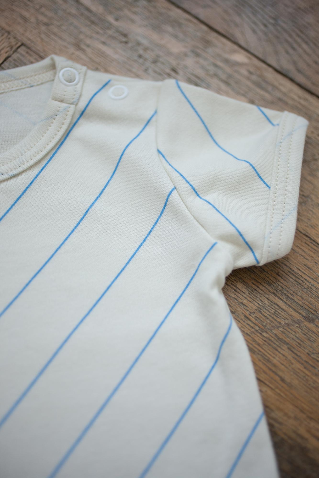 šikmý pásik tričko krátky rukáv