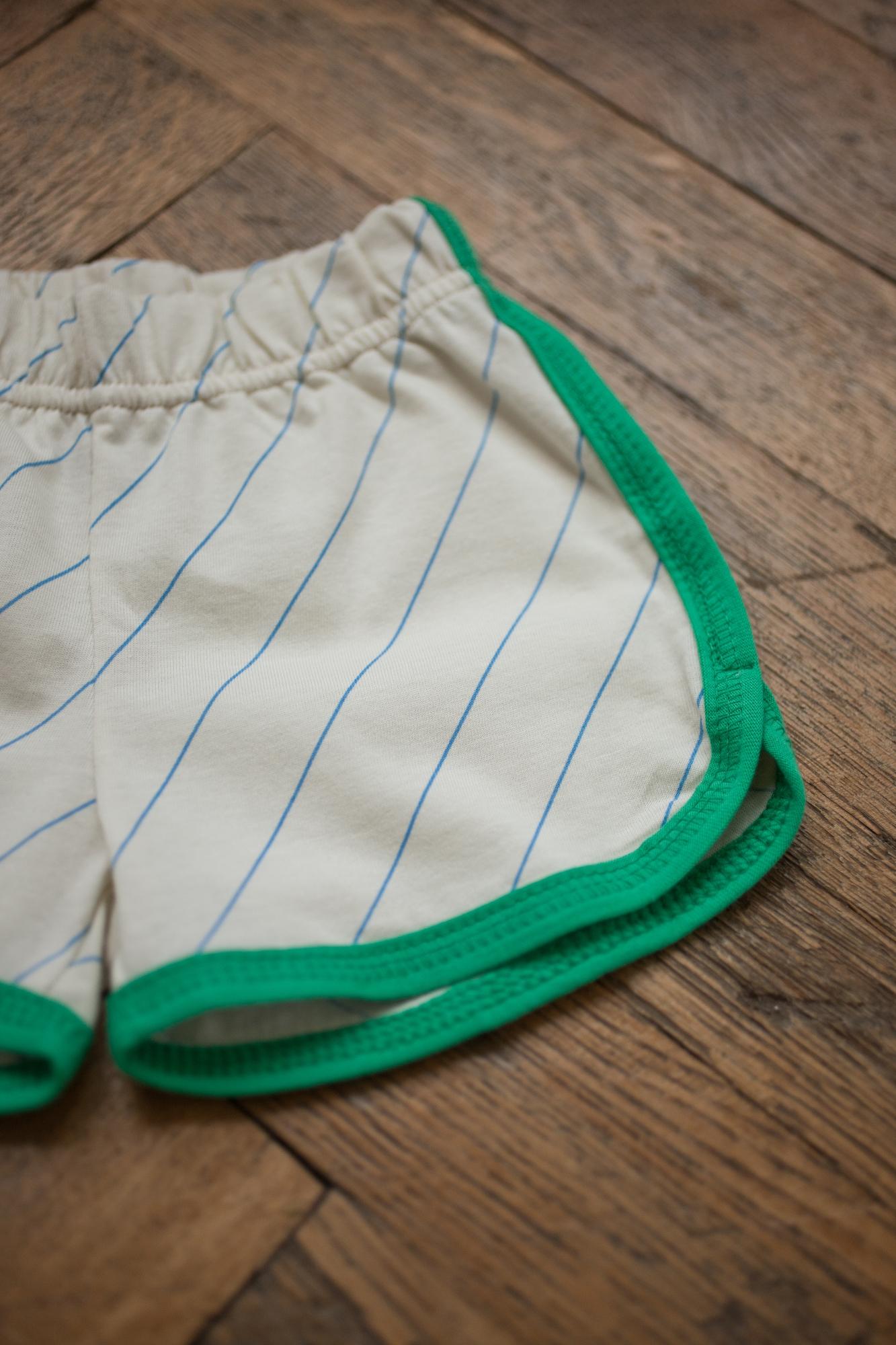 zelený lem šortky