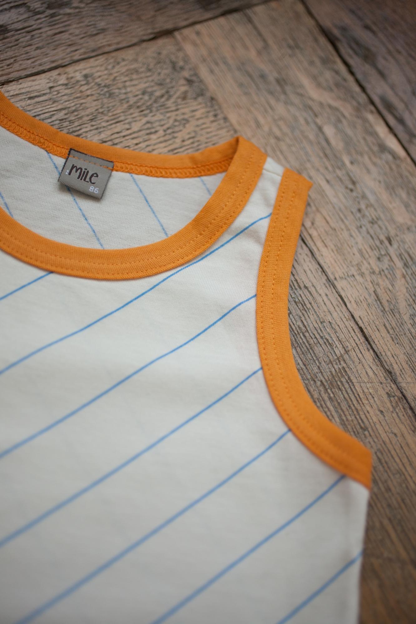orange hem summer tops