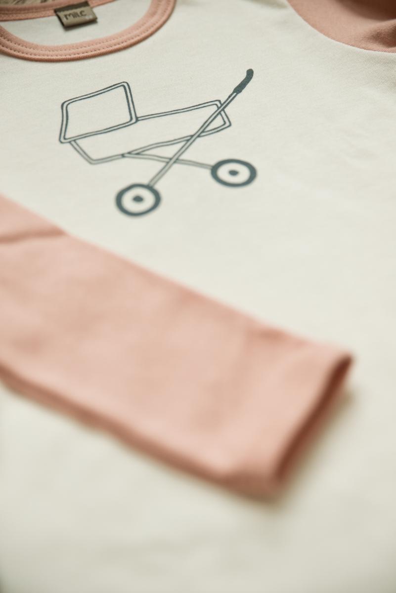 šedý kočík tričko dlhý rukáv