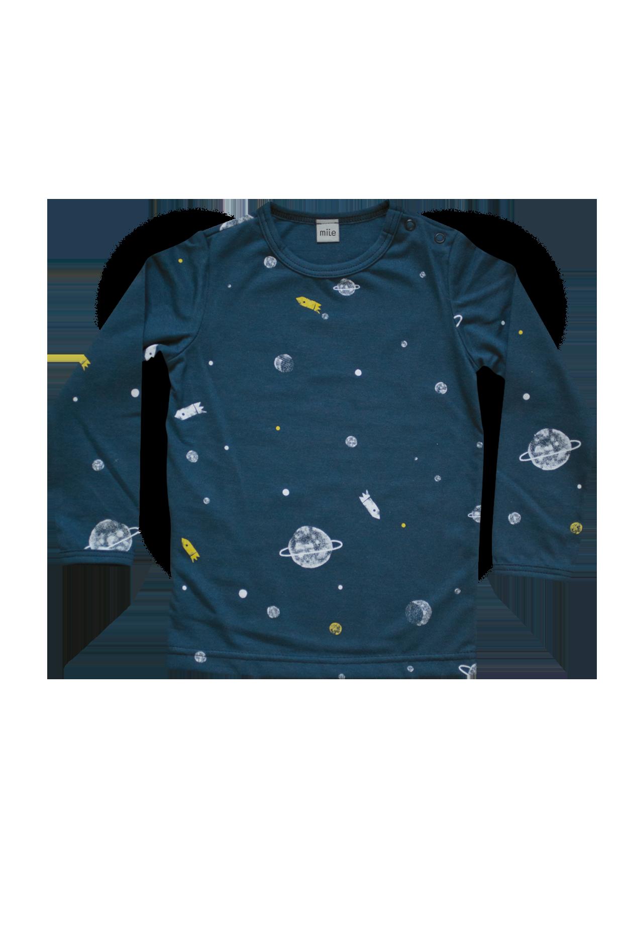 Vesmír tričko dlhý rukáv