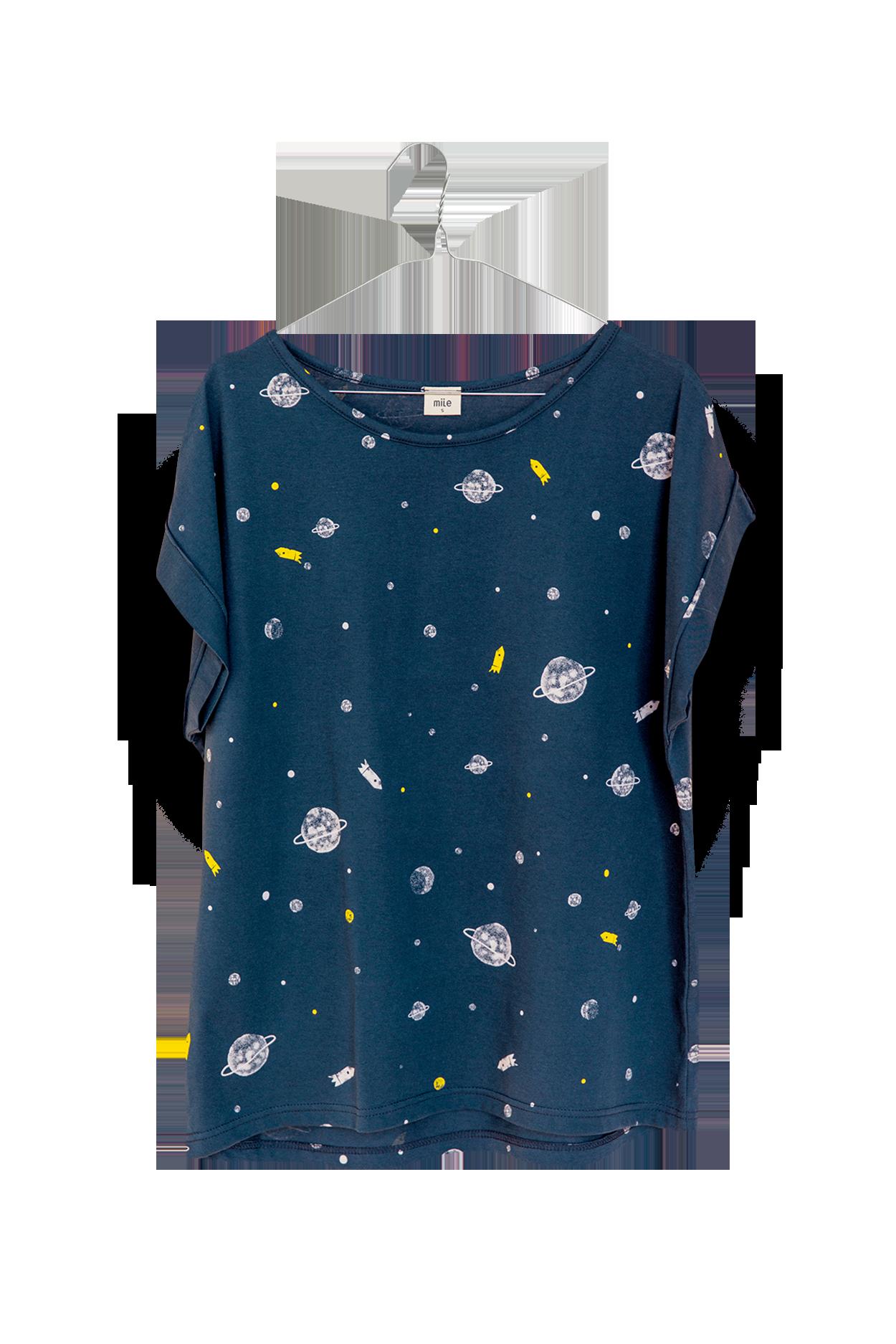 Vesmír dámske tričko