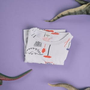 prehistoric world print by @alicakucharovic for our #dinolovecollection #kolekciadinolaska 💜